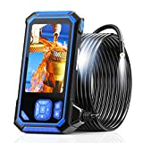 Industrial Endoscope, SKYBASIC Borescope Snake Camera with 32GB Card, IP67 Waterproof Sewer Inspection Camera HD 4.3'' LCD Screen with 6 LED Lights, Semi-Rigid Cable, Four Helpful Tools - 16.5FT