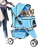 Pet Stroller Dog Stroller Cat Stroller 3 Wheels Pet Stroller Pet Jogging Stroller Pet Jogger Stroller Dog/Cat Cage Travel Lite Foldable Carrier Strolling Cart