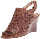 CLARKS Women's Raven Dawn Wedge Sandal, tan Leather, 8.5 Medium US
