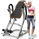 HARISON Heavy Duty Inversion Table for Back Pain Relief 350 LBS Capacity with 180 Full Inversion, Back Inversion Chair with 3D Memory Foam
