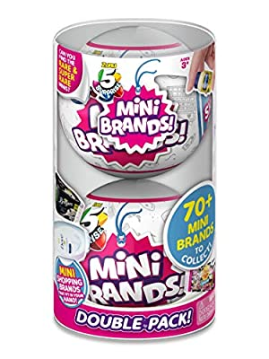 5 SURPRISE MINI BRANDS: Enjoy the thrill of unboxing as you unwrap, peel and reveal 5 minitaure replicas of your favourite household brands! SO MANY TO COLLECT: There are over 70 miniatures of your favourite brands to collect, including favorites lik...