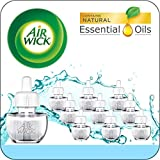 Air Wick Plug in Scented Oil, Fresh Waters, Eco Friendly, Essential Oils, Air Freshener, 10 Refills