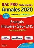 Annales Bac 2020 Hist-Geo Français Bac Pro