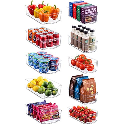 Set Of 10 Refrigerator Organizer Bins - 5 Wide and 5 Narrow...