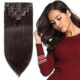 8 Bandes Extensions a Clips Cheveux Naturels Court Raide - Remy Human Hair...