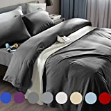SONORO KATE Bed Sheet Set Super Soft Microfiber 1800 Thread Count Luxury Egyptian Sheets Fit 18-24 Inch Deep Pocket Mattress Wrinkle and Hypoallergenic-6 Piece (Dark Grey, Queen)
