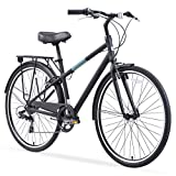 sixthreezero Reach Your Destination Men's Hybrid Bike with Rear Rack, 28 Inches, 7-Speed, Matte Black