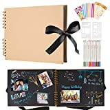 Album Photo Scrapbooking, Albums Photos 80 Pages Noir, DIY Scrapbooking Livre Souvenirs...