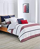 Lacoste Milady Comforter Set, Full/Queen, Red