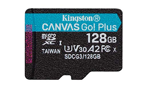 Kingston SDCG3/128GBSP Tarjeta microSD ( 128GB microSDXC Canvas Go Plus 170R A2 U3 V30 Sin SD adaptador)