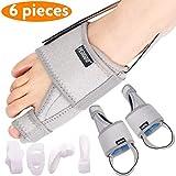 PediGoo Bunion Corrector and Bunion Relief Kit | Orthopedic Big Toe Straightener Separators | 100% Adjustable Bunion Splint for Women Men | Treat & Prevent Hallux Valgus | Anti-Slide