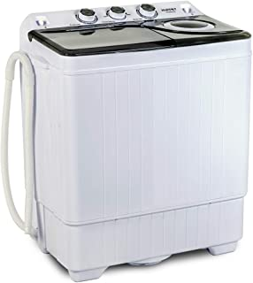 KUPPET Compact Twin Tub Portable Mini Washing Machine 26lbs Capacity,..