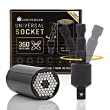 """Universal Socket Tool -Gifts for Men & Father/Dad 1/4""""-3/4"""" (7mm-19mm) Multifunctional Super Socket Wrench Set with Power Drill Adapter -Heavy Duty Grip Tools For Handyman, Husband, DIYer-Home Penguin"""