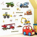 Stickers murali per la cameretta Veicoli del cantiere