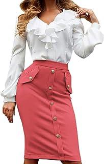 Falda de Bolsillo con Botones