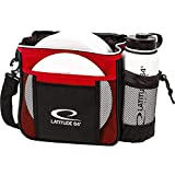 DD DYNAMIC DISCS Latitude 64 Slim Disc Golf Bag | Introductory Disc Golf Bag | Great for Beginners and Casual Disc Golf Rounds | Lightweight and Durable Frisbee Golf Bag | 8-10 Disc Capacity (Red)