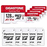Gigastone 128GB 5-Pack Micro SD Card, Gaming Plus, Nintendo Switch Compatible, R/W 100/50MB/s, 4K...