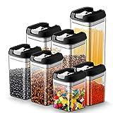 JOLVVN Lot de 7 boite hermetique alimentaire en plastique durable...