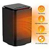 Oscillating Space Heater, Indoor Personal Heater, Electric Ceramic Heater with Over Heat Protection, Tip Over Protection, 3 Heat Settings, Quick Heat up for Home Office