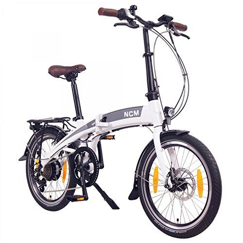 NCM Lyon Bicicleta elctrica Plegable, 250W, Batera Dentro del Cuadro...