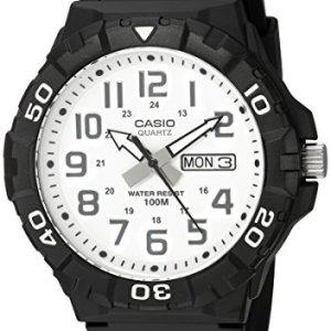Casio Men's 'Diver Style' Quartz Resin Casual Watch, Color:Black (Model: MRW-210H-7AVCF) 7