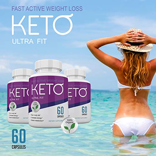Keto Ultra Fit - Fast Acting Weight Loss with Metobolic Ketosis Support - 180 Capsules - 3 Month Supply 5