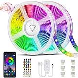 Ruban LED Bluetooth, Bande LED 20M 5050 RGB 600 LEDs Bande Lumineuse...
