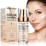 Base de Maquillaje,Base Líquida,Hidratante Líquido Base,Base de maquillaje Cobertura completa Nuevo,24H Base de Maquillaje de Larga Duración