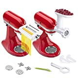ANTREE Pasta Maker Attachment 3 in 1 Set for KitchenAid and Food Meat Grinder Attachments for...