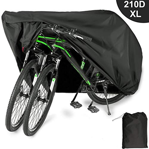 EUGO Bike Cover for 2 or 3 Bikes Outdoor Waterproof Bicycle...
