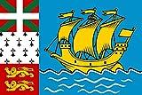 magFlags Drapeau XXXL+ Saint-Pierre-et-Miquelon | Drapeau Paysage | 6.7m²...