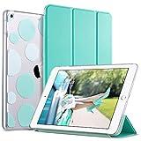 ULAK iPad 6th 5th Generation Case, Slim Trifold Lightweight iPad 9.7 2018/2017 Cases Smart Case Stand Auto Sleep/Wake Hard Back Clear Polka Dot Cover for iPad 9.7 inch iPad 5th / 6th Generation, Mint