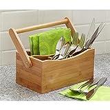 Woodluv - Casier à rangement d'ustensile de cuisine...