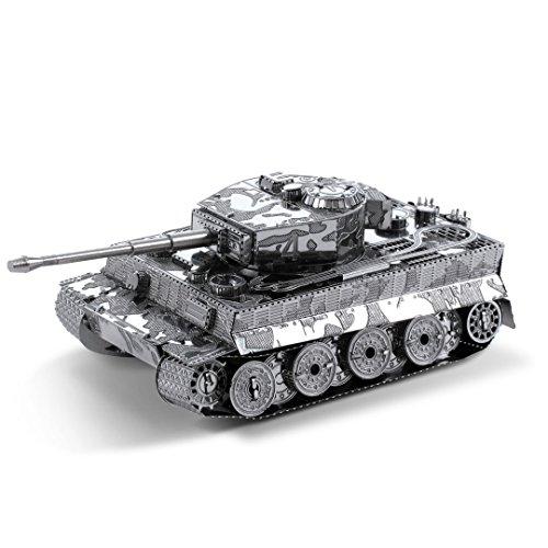 Fascinations Metal Earth MMS203 - 502462, Tiger 1 Panzer, Konstruktionsspielzeug, 2 Metallplatinen, ab 14 Jahren