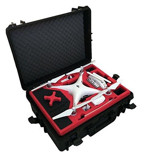 Valigia professionale/ Valigia per il trasporto di droni adatta per i DJI Phantom 4 e con abbondanza di spazio per 6 batterie (DJI Phantom 4 Professional Plus (Display))