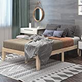 Giantex 14 Inch Solid Wood Platform Bed Frame, Rubber Wood Made Mattress Foundation, Heavy Duty Slats Support, No Box Spring Needed (Wood, Full)