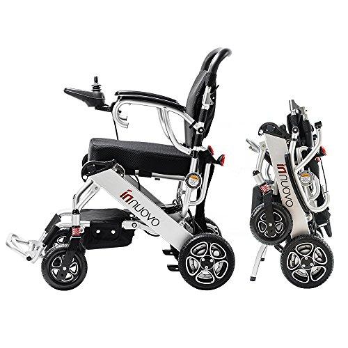 Intelligent Lightweight Foldable Electric Wheelchair, Compact (Net Weight 43 lbs) Power Wheelchair, Portable Folding Carry Wheelchairs, Durable Wheelchair (12.6 x 22 x 28)