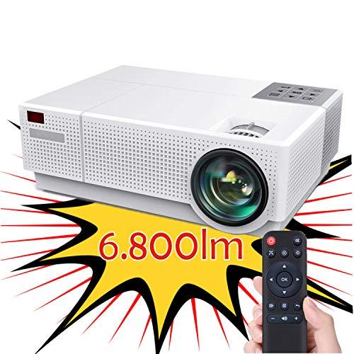 Proiettore compatibile 4K, Luximagen FUHD230 Full HD 1080p nativo 6.800 lumen, correzione digitale Dolby AC3 4D, fino a...