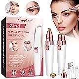 Depiladora Facial Mujer Electrica, Depiladora Cejas Mujer, 2 en 1 Dispositivo de depilación de...