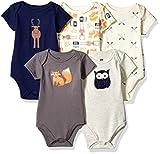 Hudson Baby Unisex Cotton Bodysuits, Forest, 18-24 Months