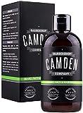 Shampoing pour la barbe 2 en 1 de Camden Barbershop Company fabriqué au Royaume-Uni...