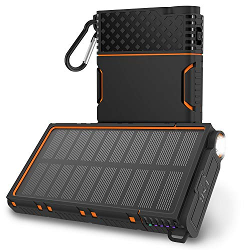 OUTXE Caricabatterie Solare 10000mAh Powerbank...