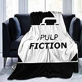Manta de Franela Tela de Cepillo Extra Suave Súper cálida Mantas para sofás acogedora y Ligera Maletín Pulp Fiction Minimal
