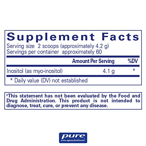 Pure Encapsulations - Inositol (Powder) - Hypoallergenic Supplement Supports Healthy Mood, Emotional Wellness and Behavior, and Ovarian Function - 8.8 Ounces 8