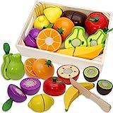 Airlab Jouets en Bois Fruits et Légumes à Découper, Enfant Dinette Nourriture...