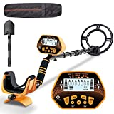 SUNPOW Metal Detector High Accuracy Metal Detector for Adults & Kids, LCD Display with Adjustable Light, Pinpoint Function & DISC Mode, 10 Inch Waterproof Search Coil, Multiple Audio Prompts