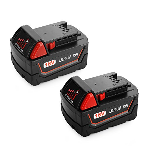 Powilling 2Pack 5.0Ah XC Battery for Milwaukee Battery 18V...