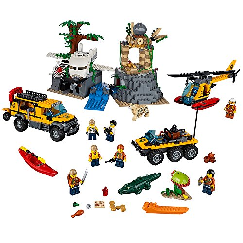 LEGO City Explorers Jungle Exploration Site Building Kit 60161 (813 Pieces)