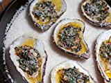Baked Oysters With Greens, Bacon, and Parmesan
