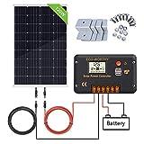 ECO-WORTHY Panneau solaire 120W, Contrôleur de charge solaire 20A, Câble de...